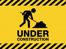 under construction warning sign vector 1